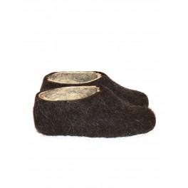 Plstěné papuče – tmavé