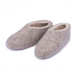 Plstěné papuče – světlé